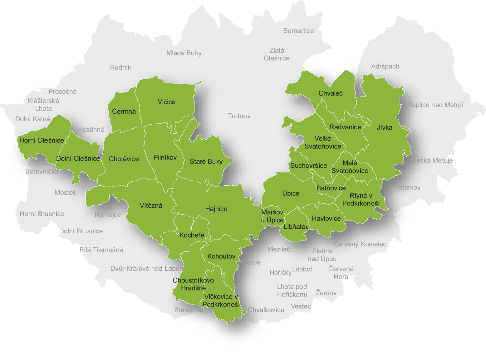 Mapa MAS Království - Jestřebí hory, o.p.s.